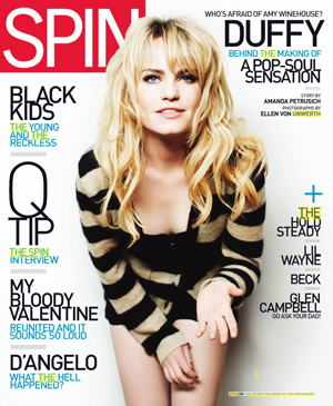 August 2008 SPIN Magazine cover