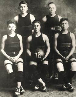 The Carlisle Indian School basketball team, 1918