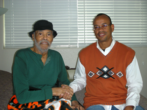 Claude Johnson with George Crowe