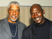 Julius Erving and Michael Jordan