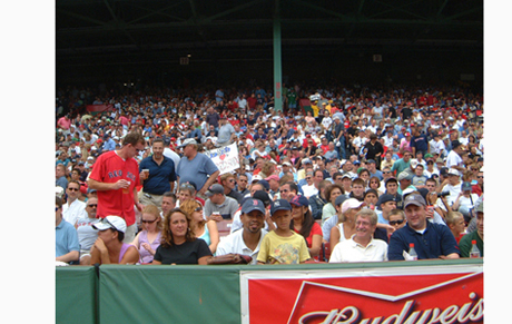 Fenway Park front row