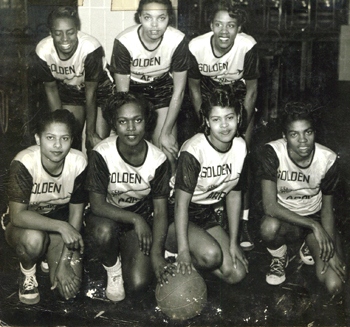 The Golden Arrows all-black women's basketball team