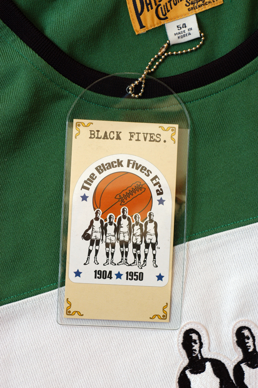 Black Fives branded jersey in green