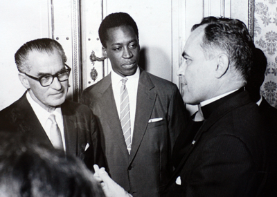 Father Theodore Hesburgh in Vienna, 1961