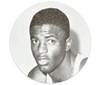 Basketball player Jackie Robinson