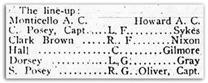 Monticello-Howard lineup