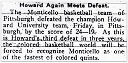 Monticellos defeat Howard