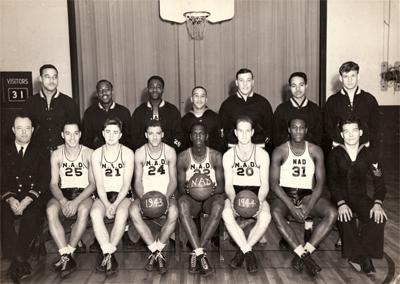 Naval Ammunition Depot basketball team, 1943-44