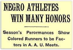 Negro Athletes Win Many Honors
