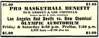 Los Angeles Red Devils advertisement