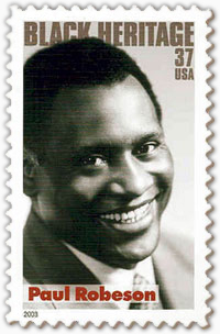 Paul Robeson Commemorative Stamp