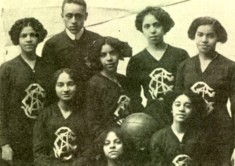The Spartan Girls of Brooklyn, an early all-black female basketball team, circa 1910.