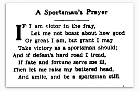 A Sportsman's Prayer