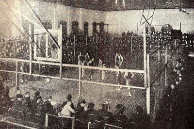 Vintage basketball cage