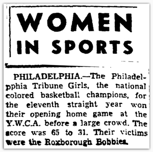 Women In Sports headline