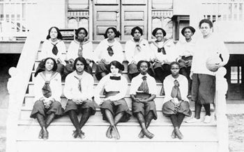 Unidentified all-black women's basketball team