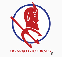 The official logo of the Los Angeles Red Devils