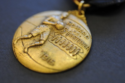 Gold-Leafed Promotional Basketball Medallion (1914)