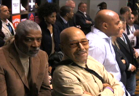John Isaacs with Julius Erving and Charles Barkley at a Footlocker event in Harlem