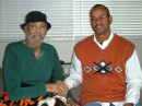 Sitting with George Crowe in 2009, during my visit with him at his nursing home in Sacramento, California. (Claude Johnson)