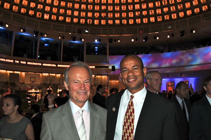 With Richard Lapchick at the Basketball Hall of Fame