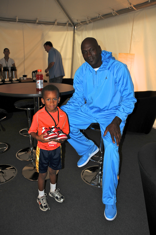 In the VIP Tent, World Basketball Festival, Harlem.