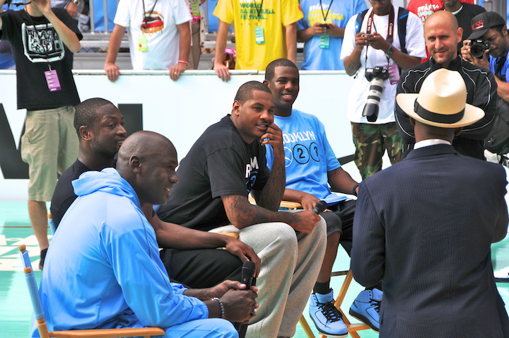 Michael Jordan at World Basketball Festival at Rucker Playground, Harlem