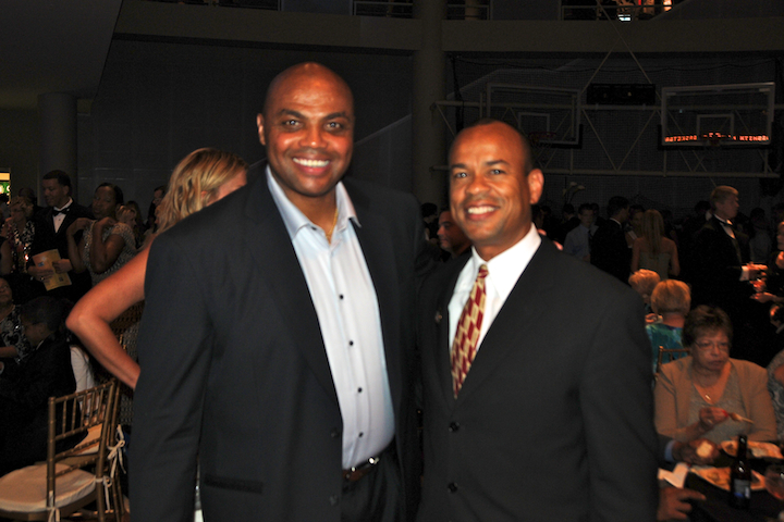 With Charles Barkley At 2010 Hall of Fame Enshrinement Ceremony