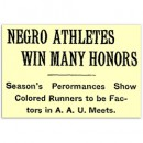 Negroes Win AAU Honors