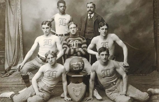 """Harry """"Bucky"""" Lew of Lowell, Mass., an early basketball pioneer, is believed to have become the first African American professional player when he joined the New England League in 1902. (Photo courtesy of Merrimack Valley Magazine)"""