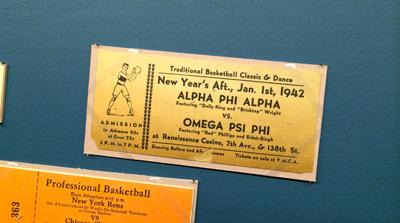 Alpha Phi Alpha vs. Omega Psi Phi game ticket, 1942