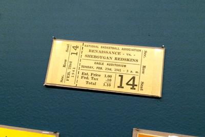 Renaissance vs Sheybogan Redskins ticket, 1941