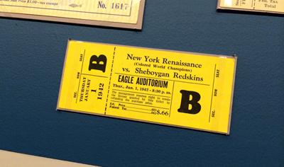 New York Renaissance vs Sheboygan Redskins ticket, 1942