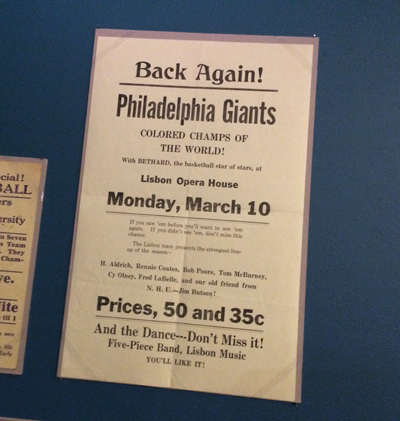 Philadelphia Colored Giants handbill