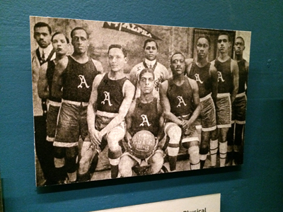 Alpha Physical Culture Club basketball team, representing America's first all-black athletic club 1910 Reproduction
