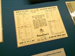 Rosenblum Tournament scorecard