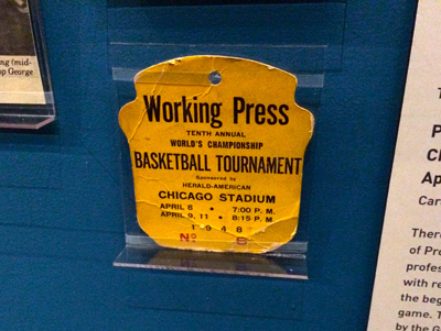Press badge, 1948