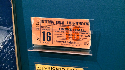 Ticket stub, 1943 World Championship of Professional Basketball, Sunday March 16, [1943] | 1943 | Ticket fragment
