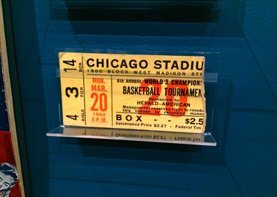 Ticket stub, 1944 World Championship of Professional Basketball, Monday, March 20, 1944 | 1944 | Ticket fragment