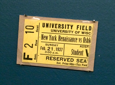 Rens-Oshkosh ticket fragment, 1937