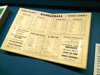 Event program, Basketball Triple Header: Harlem Globe Trotters vs. All Hawaii, Philadelphia SPHAs vs. New York Rens, New York Celtics vs. Kansas City Stars, March 7, 1948