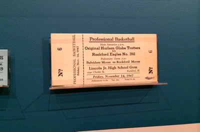 Original Harlem Globe Trotters vs Rockford Eagles, November 14, 1947 1947 | Ticket fragment