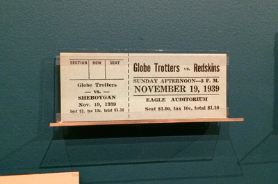 Harlem Globetrotters vs. Sheboygan Redskins, November 19, 1939 1939 | Ticket