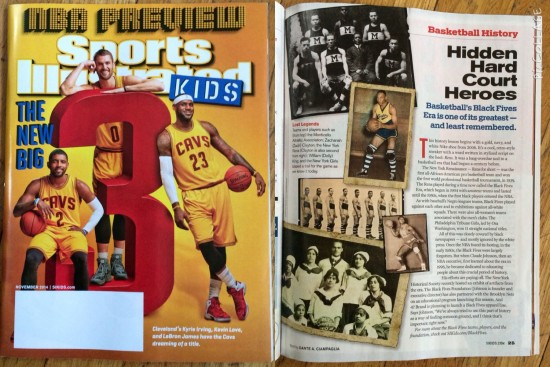 Basketball History: Hidden Hardcourt Heroes, a new piece in the November 2014 issue of Sports Illustrated for Kids.