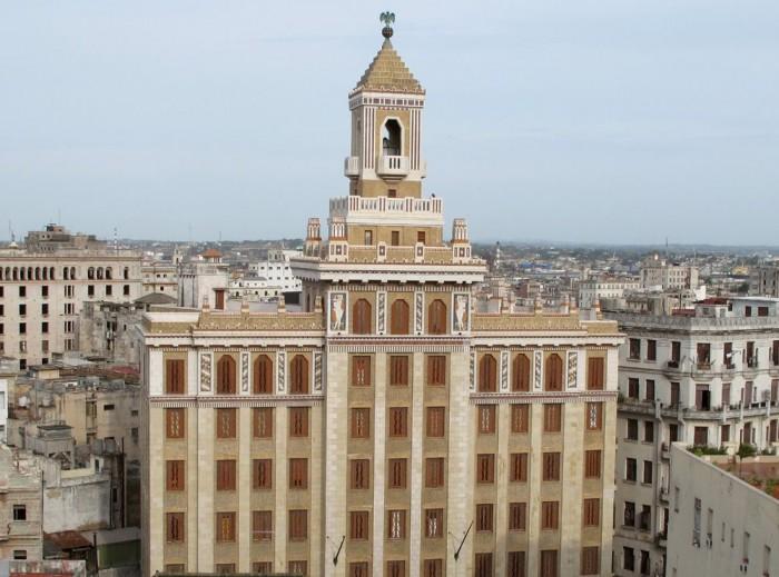 The Bacardi Building in Old Havana