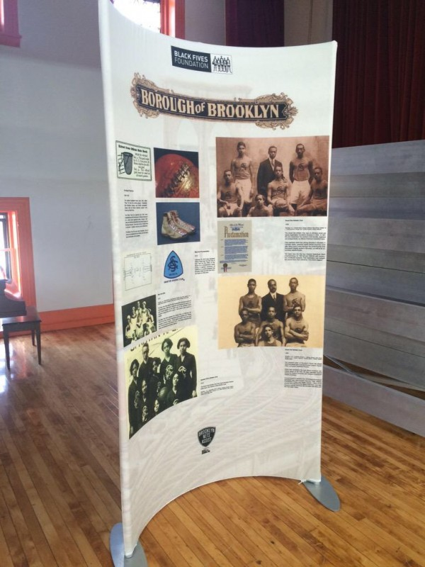 One of the Black Fives Foundation's portable museum exhibit displays.