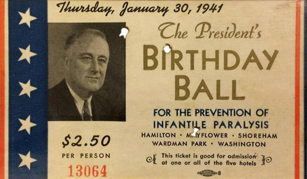1941 Roosevelt Birthday Ball Ticket