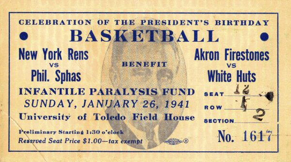 Rens FDR Fundraiser Game Ticket