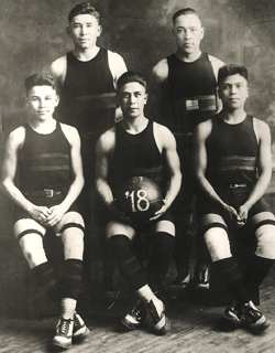 The Carlisle Indian School basketball team, 1918