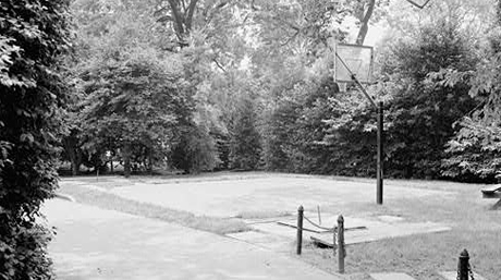 White House basketball court